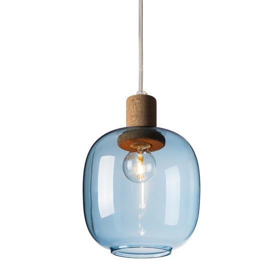 Suspension en verre  bleu Picia - Enrico Zanolla