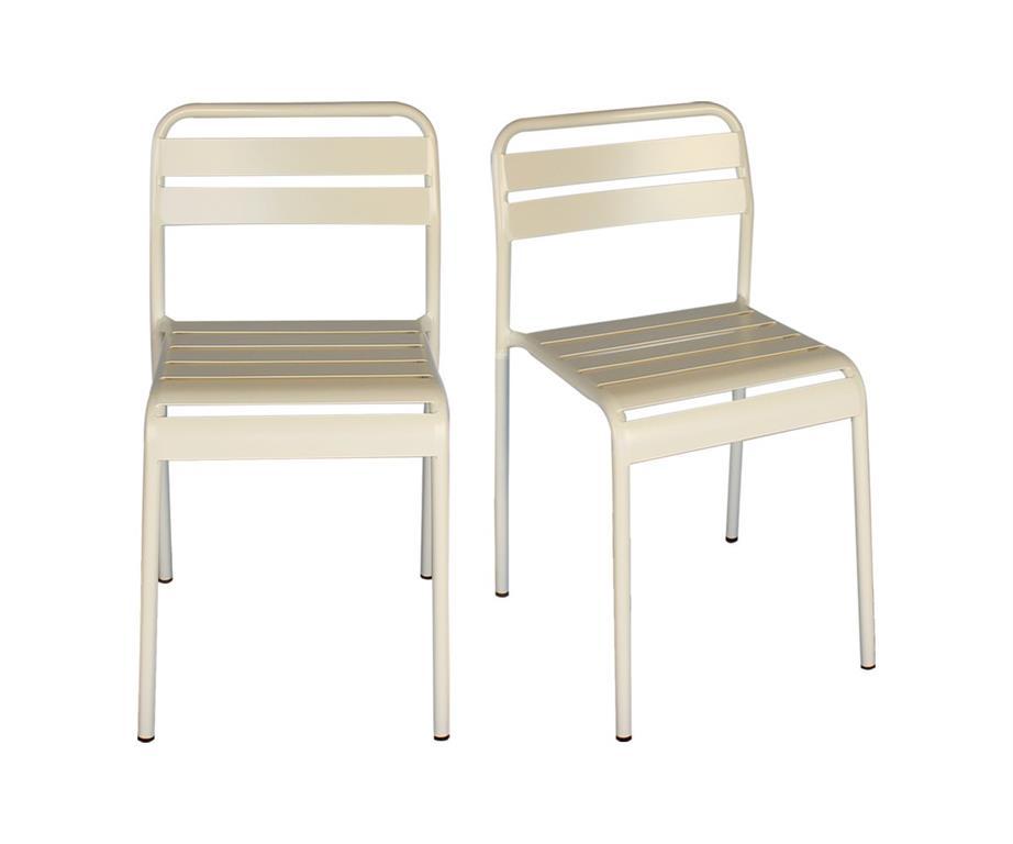 Lot de 2 chaises de salle à manger métal ODILE
