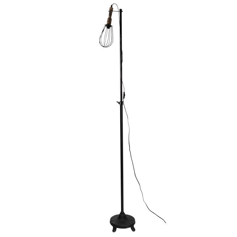 Lampadaire en métal noire H 110 à 188 cm BALADEUSE