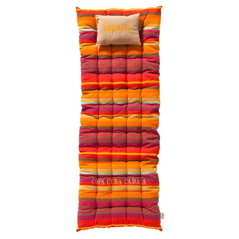 Matelas rayé en coton multicolore 70 x 160 cm COPACABANA
