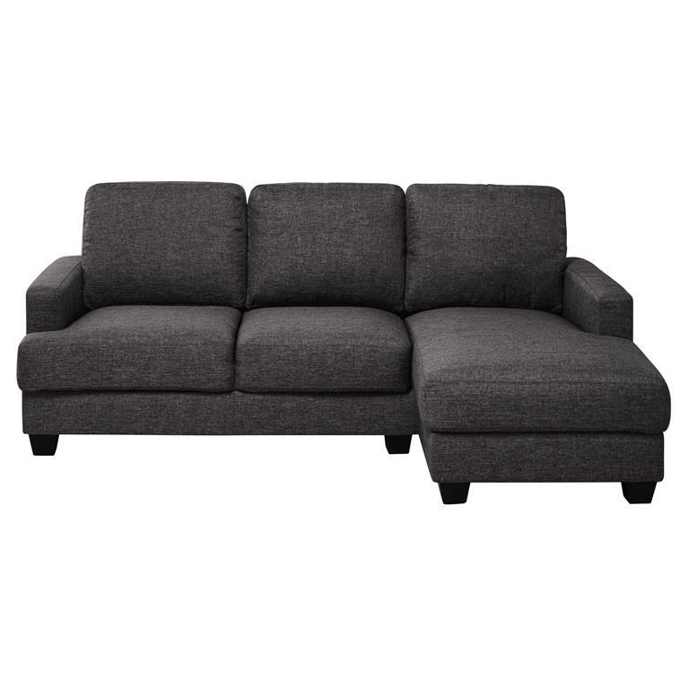 Canapé d'angle droit 3/4 places gris chiné Philadelphie