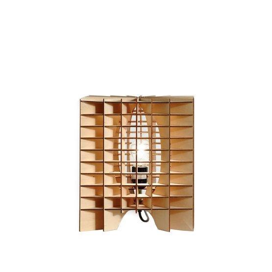 Lampe en bois Cube - Massow Design