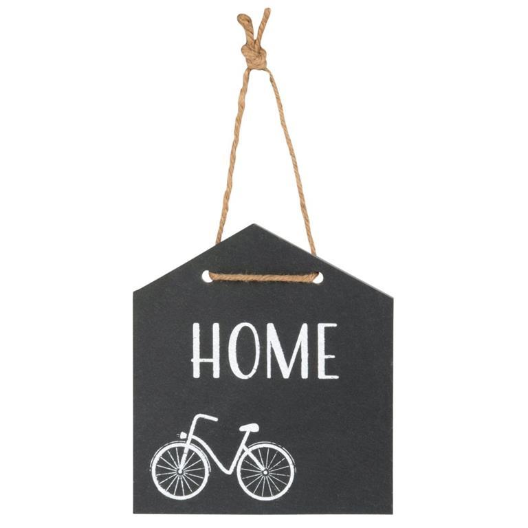 Plaque de porte en ardoise imprimé vélo blanc