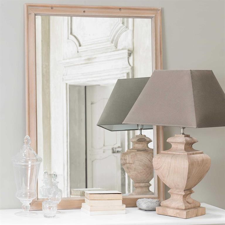 Miroir en bois de paulownia H 120 cm BENEDICTE