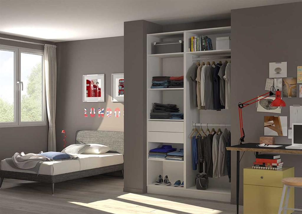 placard dressing pour chambre adolescent. Black Bedroom Furniture Sets. Home Design Ideas