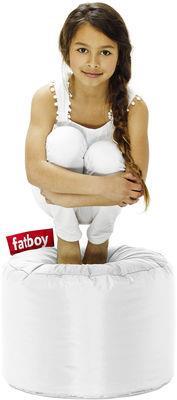 Pouf Point - Fatboy Ø 50 x H 35 cm blanc en tissu