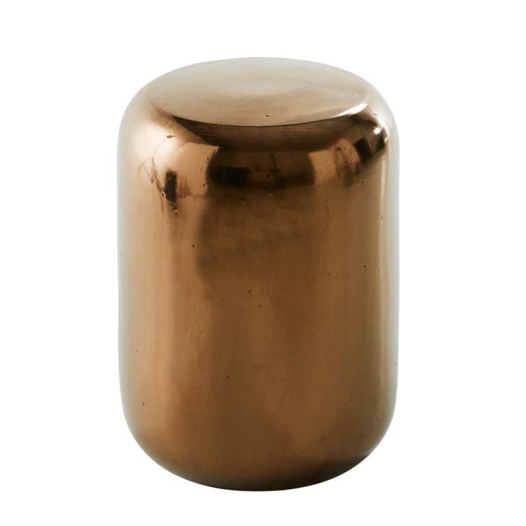 Tabouret en céramique bronze