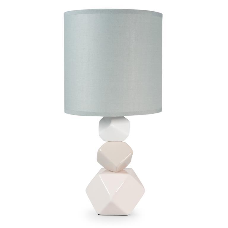 Lampe en céramique et abat-jour blanc H 37 cm YAKIMINI