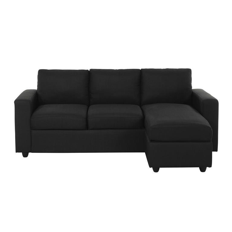 Canapé d'angle 3 places gris anthracite Jules