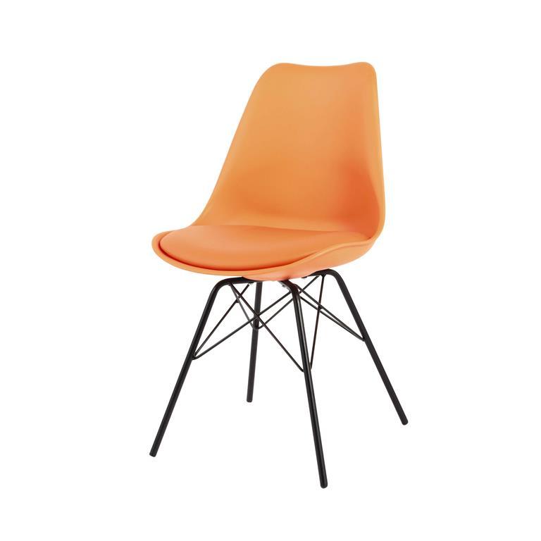 Chaise en polypropylène et métal orange Coventry