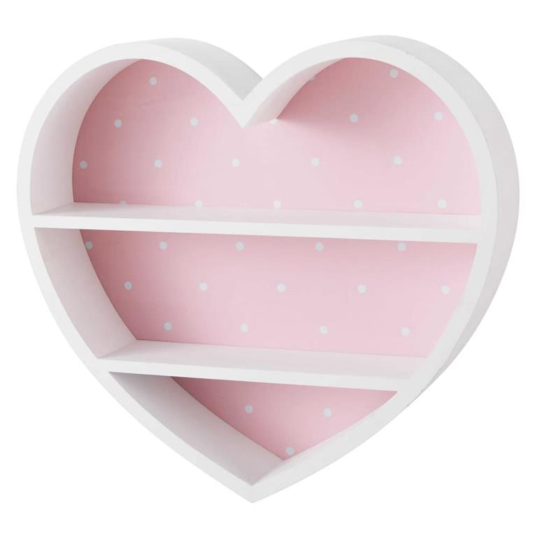 Étagère cœur blanche et rose