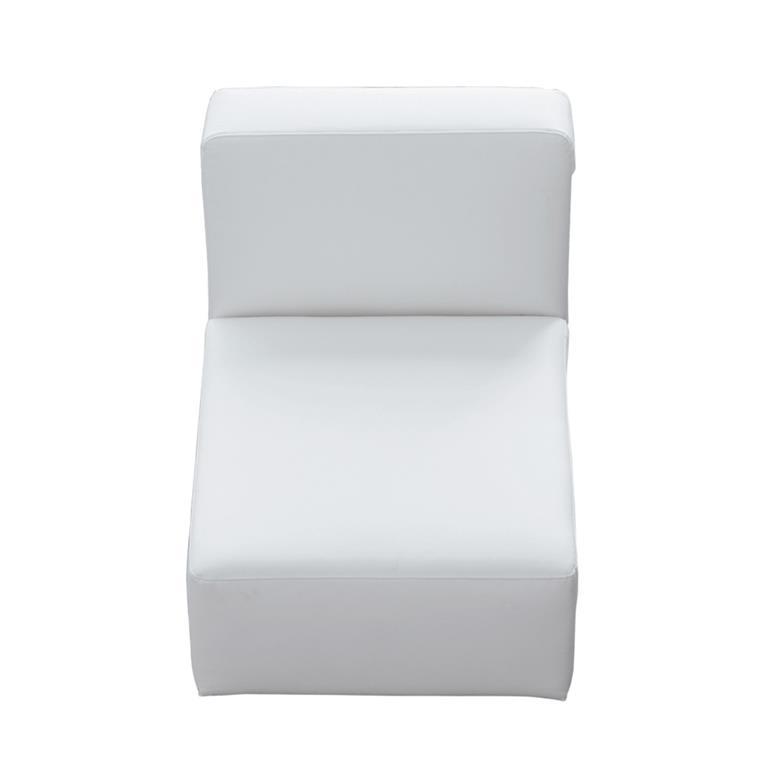 Chauffeuse imitation cuir blanche L 66 cm Modulo