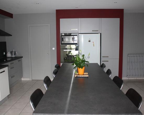 Cuisine couleur bordeaux cuisine ikea conception 19 for Cuisine moderne grise