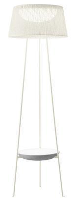 Lampadaire Wind / Table basse intégrée - Vibia blanc en matière plastique