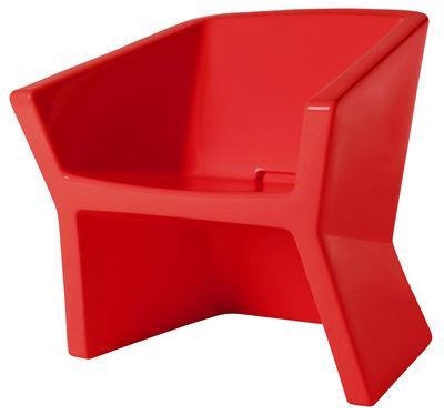 Chaise exofa plastique slide rouge en mati re plastique - Chaise plastique rouge ...