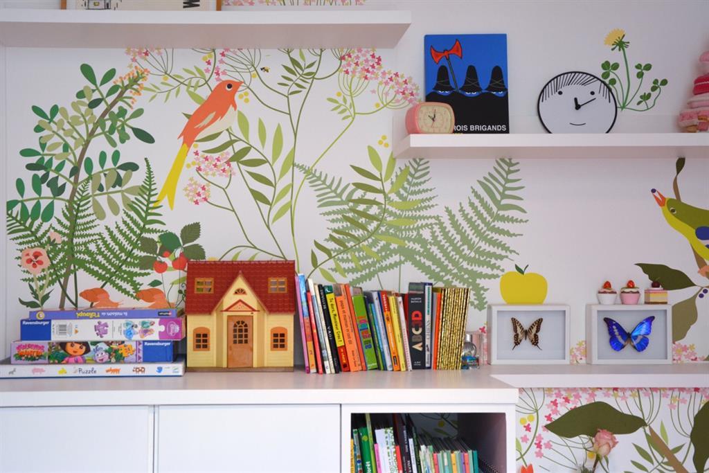 Image Chambre enfant avec décor mural gai et moderne bertille bosset