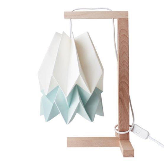 Lampe à poser blanche et bleu pastel - Orikomi