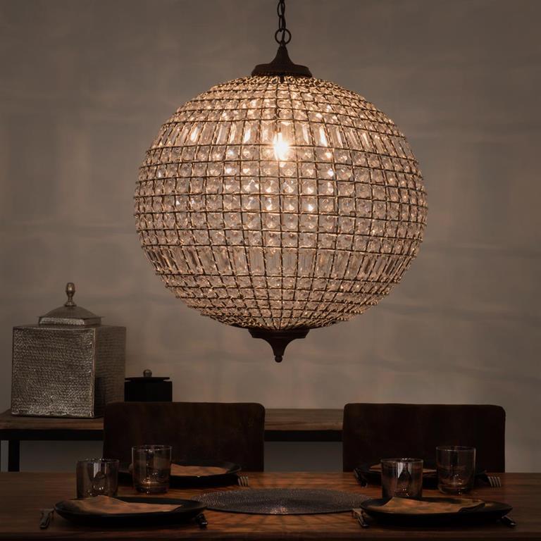 Suspension boule en m tal d 60 cm finon maisons du monde for Maison du monde lampadario