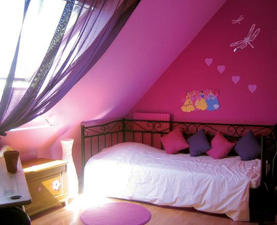 du rose dans une chambre d 39 enfant par agn s vermod. Black Bedroom Furniture Sets. Home Design Ideas