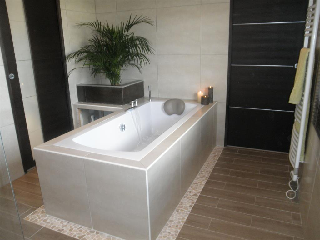 Salle de bain baignoire îlot
