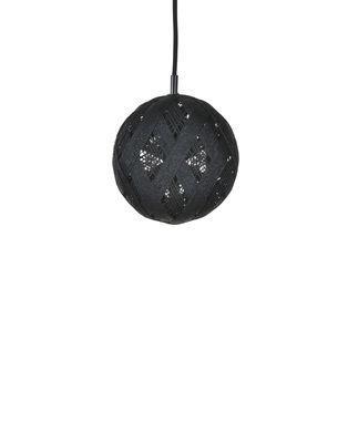 Suspension Chanpen Hexagon / Ø 19 cm - Forestier noir en tissu