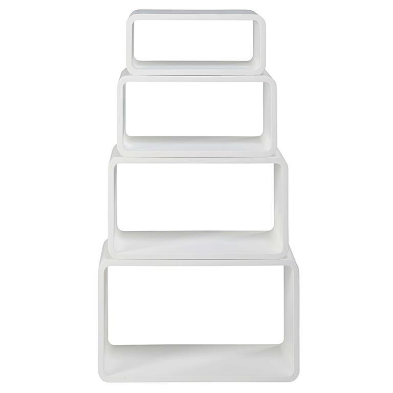 4 étagères blanc mat Twiggy