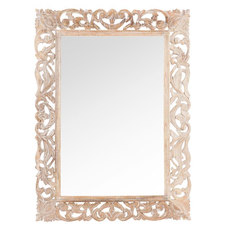 Miroir en bois sculpté H 78 cm DIVYA