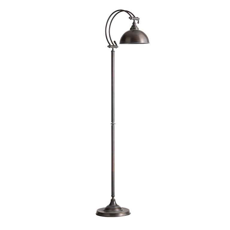 Lampadaire en métal effet rouille H 150 cm LUBÉRON