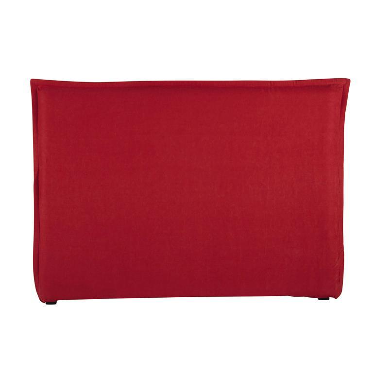 housse de t te de lit 160 en lin lav rouge morphee. Black Bedroom Furniture Sets. Home Design Ideas