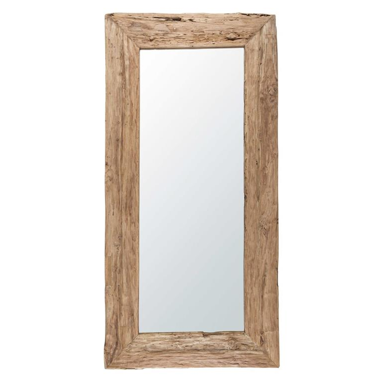 Miroir en teck recyclé 100x200cm