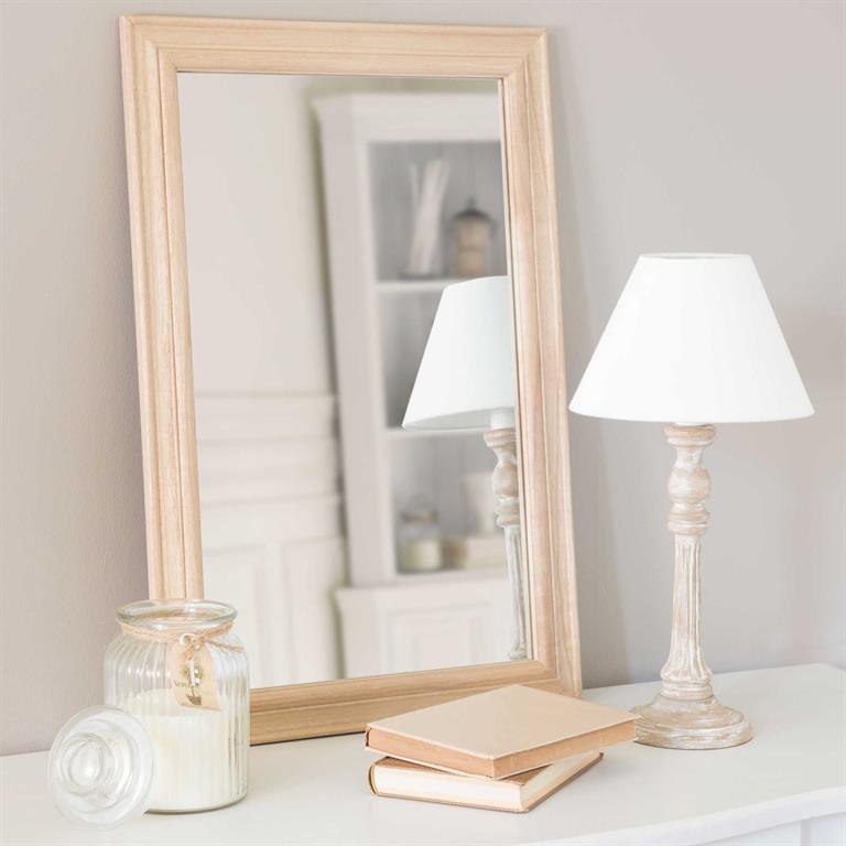 Miroir en bois H 60 cm BEAUPUY