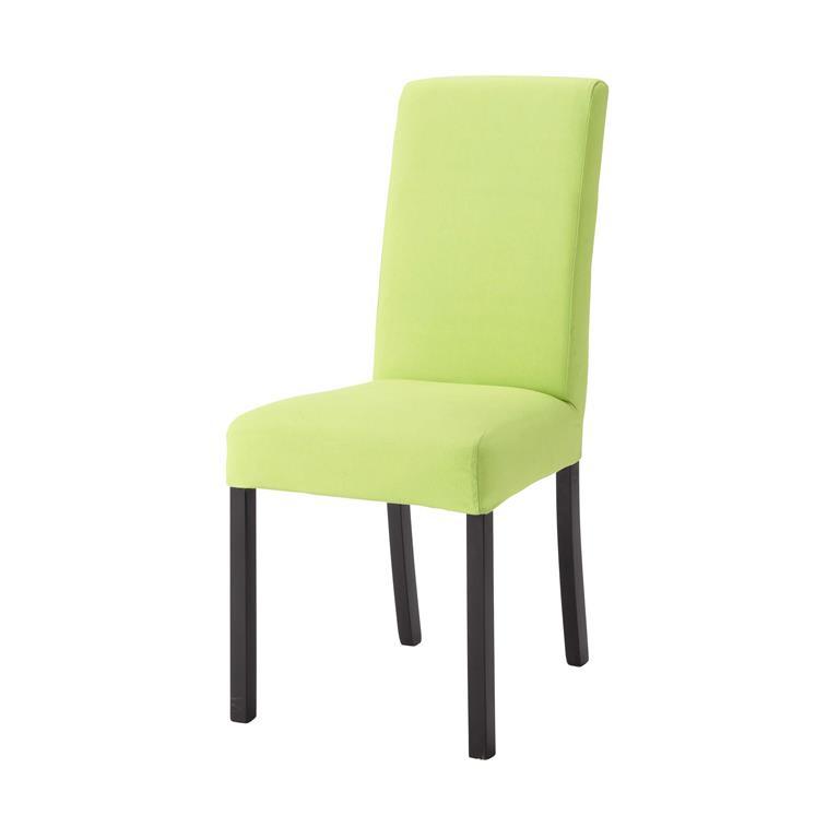 housse de chaise en coton verte margaux maisons du monde. Black Bedroom Furniture Sets. Home Design Ideas