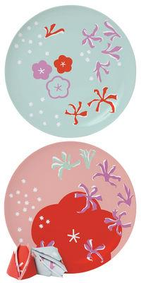 Assiette Surface 02 - Poppy for two / lot de 2