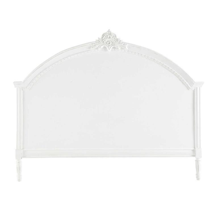 Tête de lit en manguier blanche L 160 cm Médicis