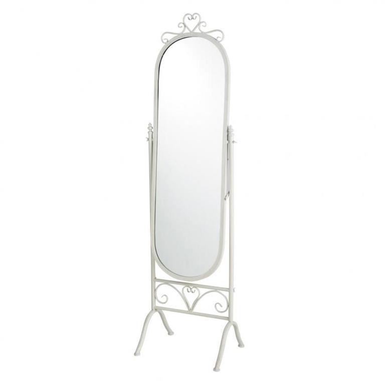 Miroir psyché en métal blanc H 167 cm MONTSÉGUR