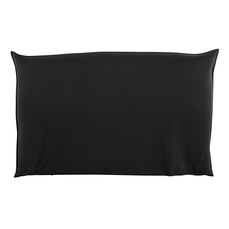 housse de t te de lit 180 noire soft maisons du monde. Black Bedroom Furniture Sets. Home Design Ideas