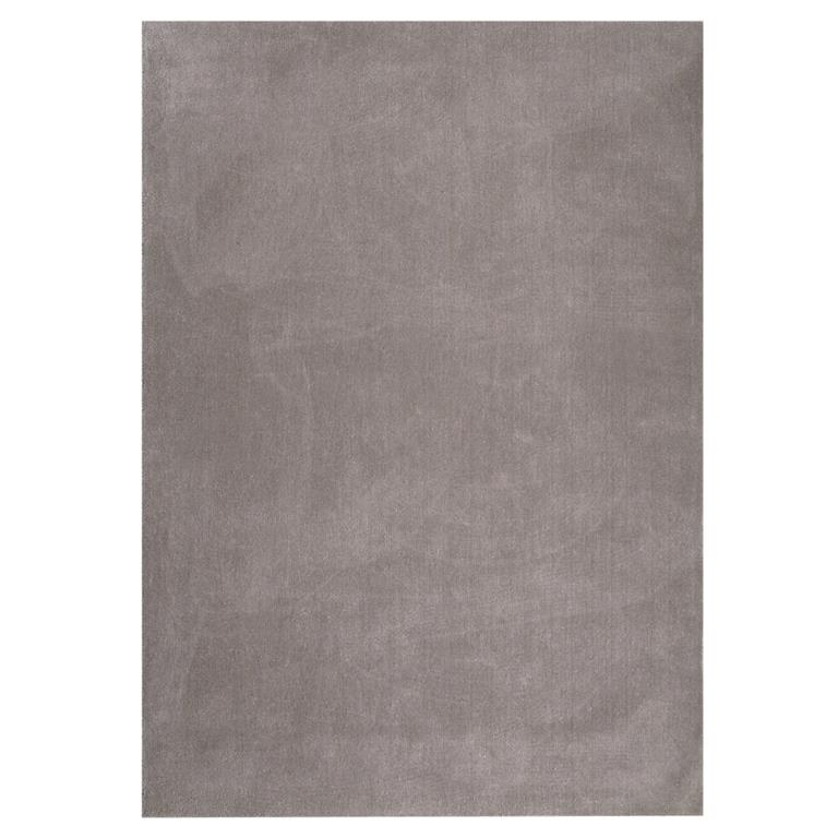 tapis poils courts en laine taupe clair 140 x 200 cm soft. Black Bedroom Furniture Sets. Home Design Ideas
