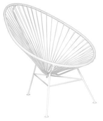 Fauteuil bas Acapulco - OK Design pour Sentou Edition blanc en métal