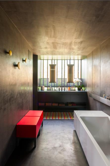 Image Salle de bain design en béton ciré