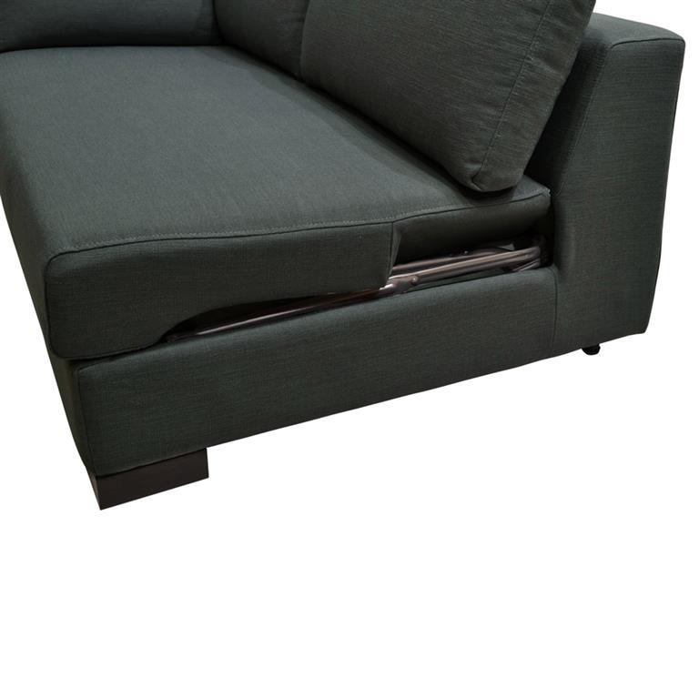 Canapé convertible modulable accoudoir droit en coton anthracite Terence