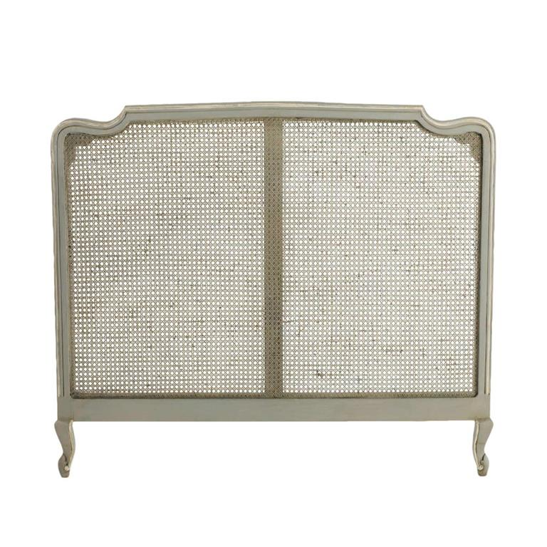 Tête de lit en manguier grise L 140 cm Beaumanoir