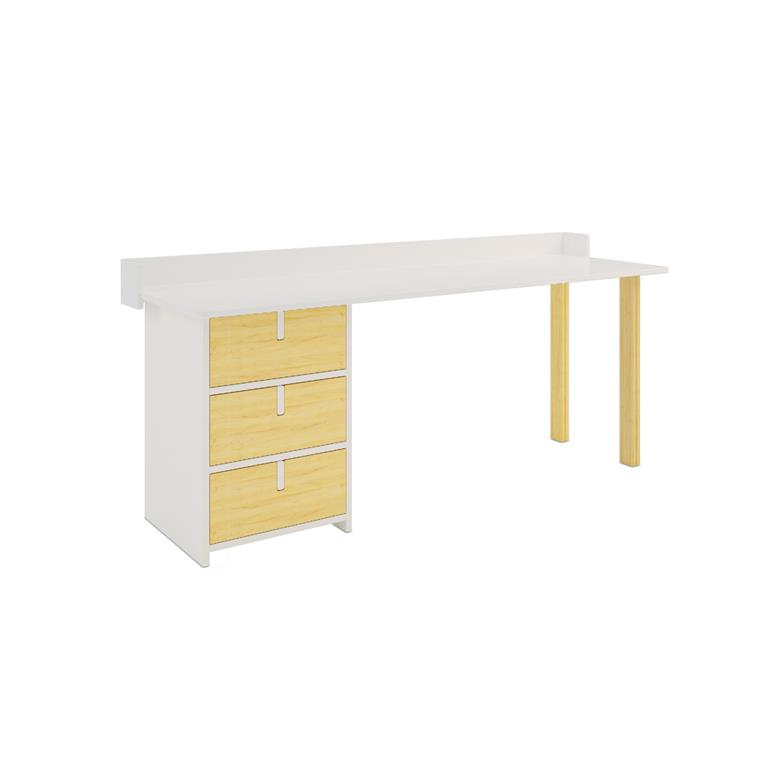 Bureau Simple table de bureau simple en bois h76 x l120 x p60 cm achat vente bureau table de
