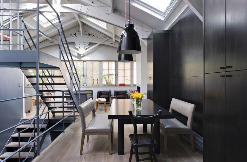 Salle manger d 39 un loft industriel int rieur design for Interieur industriel