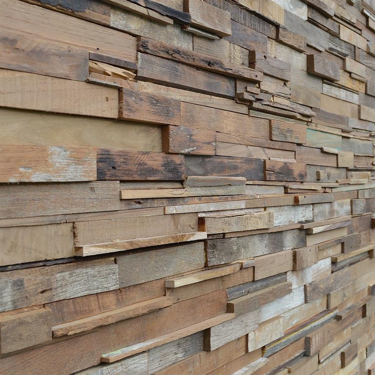 Parements bois naturels recycl s for Mural en bois