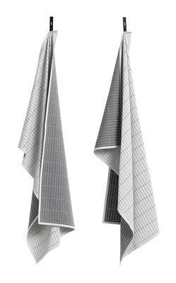 Torchon / Set da 2 - Hay gris en tissu