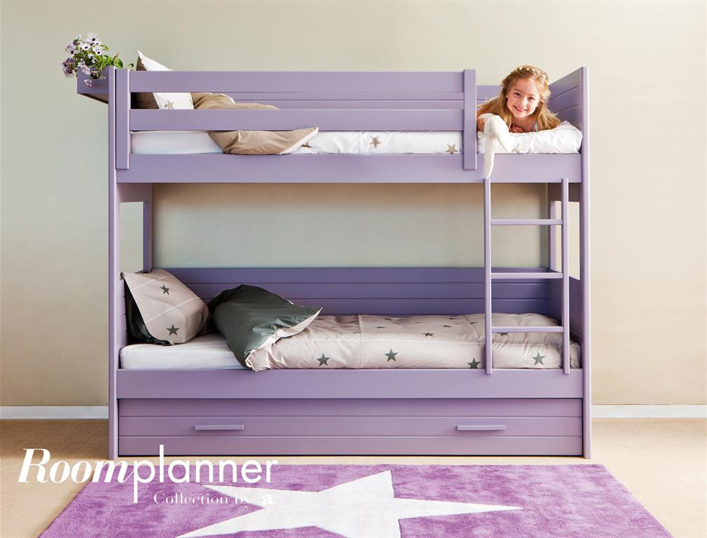 lits superpos s en bois mauve pour chambre d 39 enfant. Black Bedroom Furniture Sets. Home Design Ideas