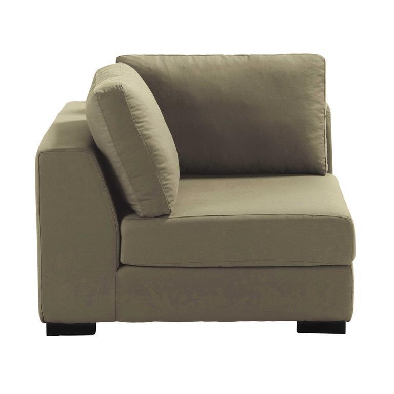 Angle de canapé en coton taupe Terence