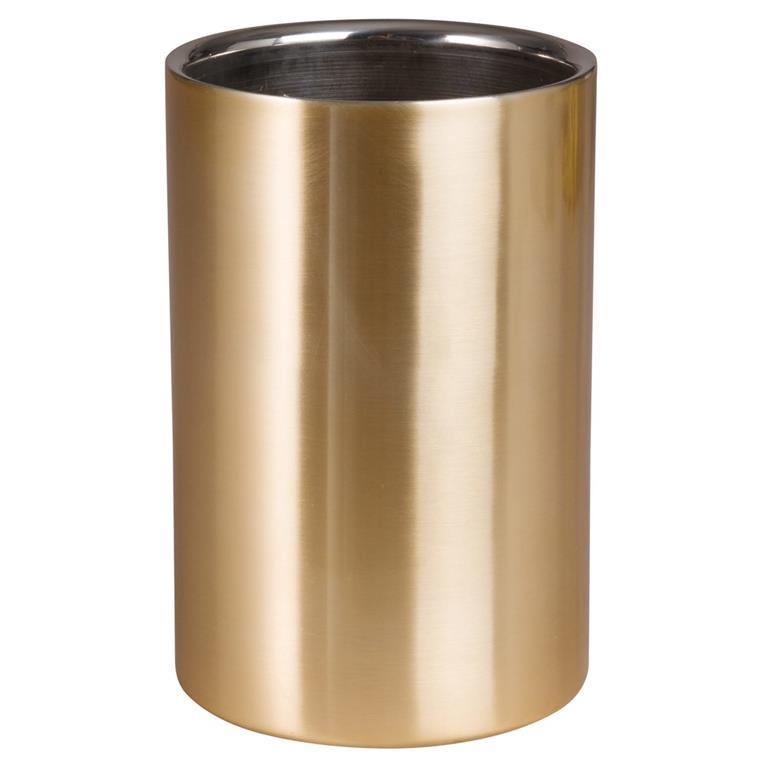 Rafraîchisseur de bouteille en acier doré