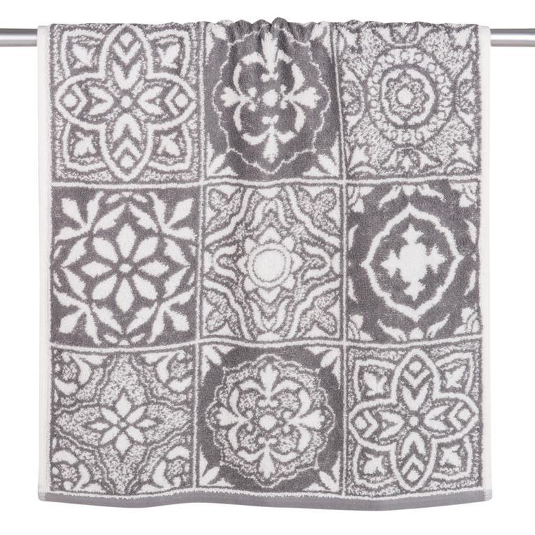 Serviette en coton motifs carreaux de ciment 50x100