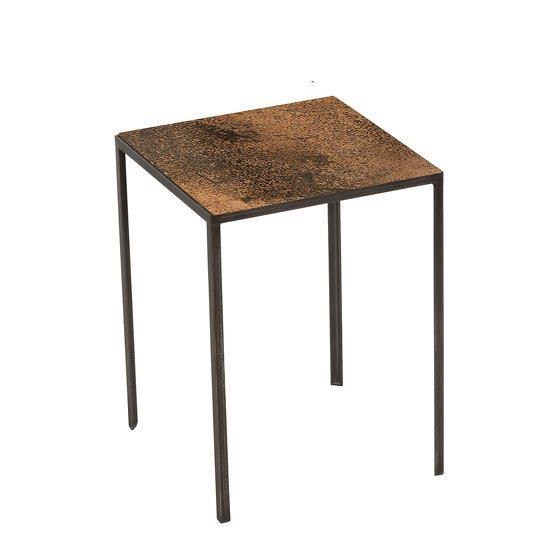 Table d'appoint carrée bronze Patchwork - Notre Monde